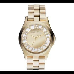 Marc by Marc Jacobs (gold band, clear face)